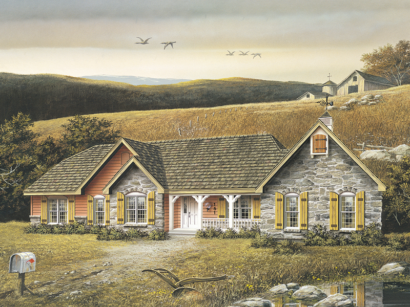 Ranch House Plan Front Image - Montclaire Ranch Home 001D-0007 | House Plans and More