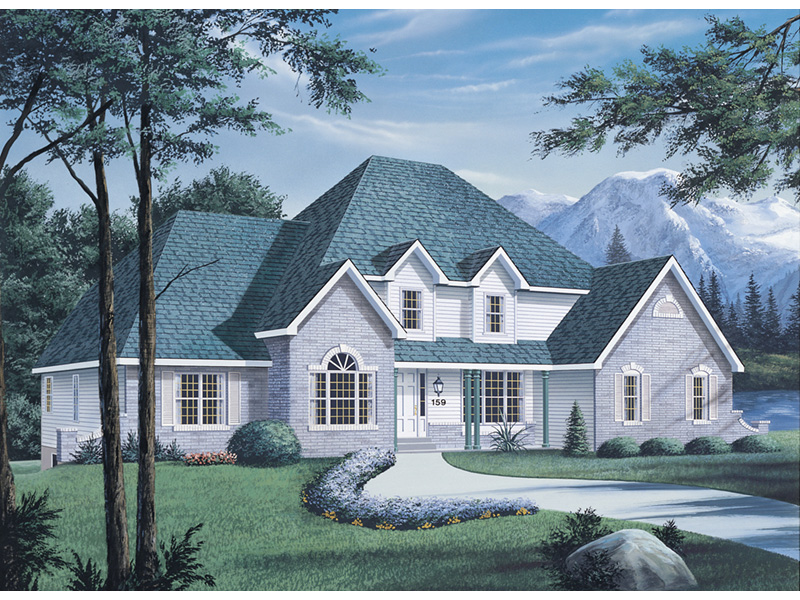 Luxury House Plan Front Photo 02 - Manor House Luxury Home 001D-0012 | House Plans and More