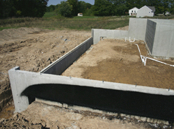 basement foundation under construction