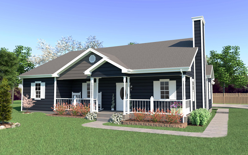 Country-Style Home With Large Front Porch
