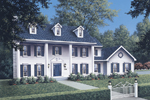 Country House Plan Front Image - Prescott Greek Revival Home 001D-0037 | House Plans and More