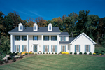Colonial Windows And Dormers Complete This Southern Home