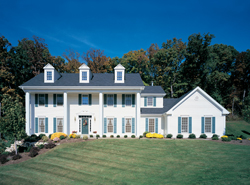 Colonial House Plans Front of House 001D-0037