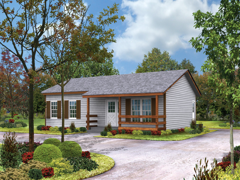 Cabin & Cottage House Plan Front Photo 01 - Provider II Country Ranch Home 001D-0040 | House Plans and More
