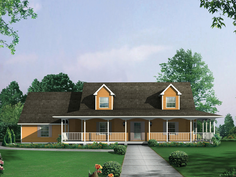 Country Ranch Farmhouse Plan 001D-0061 | House Plans and More on wraparound porch house plans, front porch house plans, screened porch house plans, grilling porch house plans, covered porch house plans, wrap around porch,