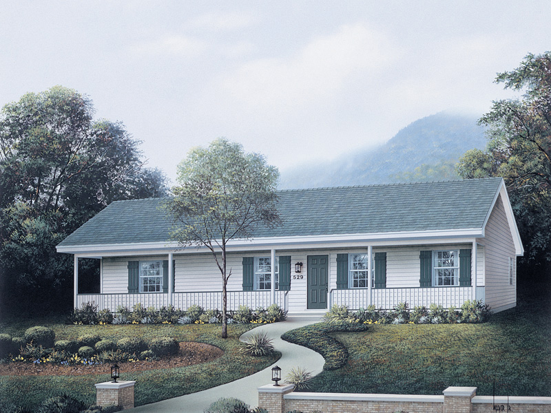 Country House Plan Front Image - Delta Queen I Ranch Home 001D-0067   House Plans and More