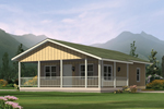 Vacation House Plan Front Image - Highlander Country Cabin Home 001D-0085 | House Plans and More