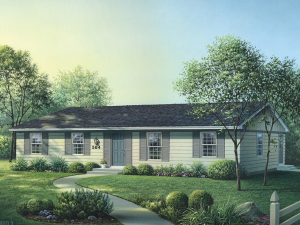 Country House Plan Front Image - Woodcrest Ranch Home 001D-0090 | House Plans and More
