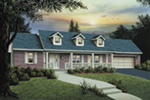 Colonial House Plan Front Photo 01 - Ryland Ranch Home 005D-0001 | House Plans and More