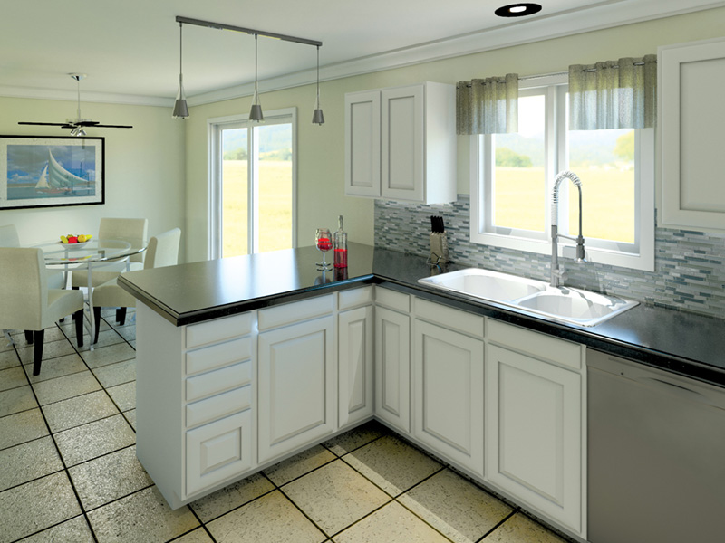 Colonial House Plan Kitchen Photo 03 - Ryland Ranch Home 005D-0001 | House Plans and More