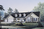 Traditional House Plan Front Image - Foxbury Atrium Ranch Lovely Home 007D-0010 | House Plans and More