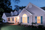 Traditional House Plan Front Photo 01 - Foxbury Atrium Ranch Lovely Home 007D-0010 | House Plans and More