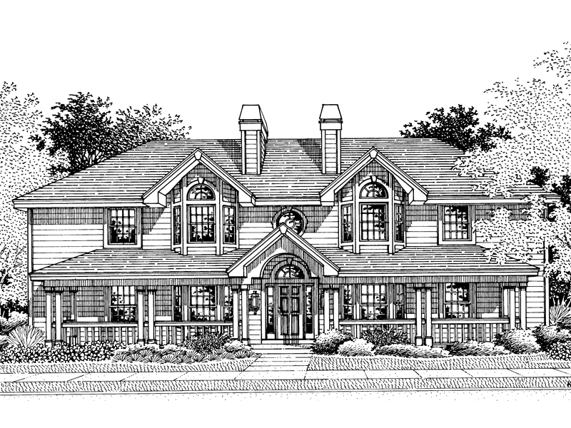 Multi-Family House Plan Front Image of House - Staunton Fourplex Multi-Family 007D-0021 | House Plans and More
