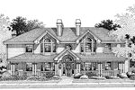 Country House Plan Front Image of House - Staunton Fourplex Multi-Family 007D-0021 | House Plans and More
