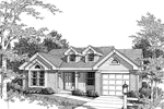 Ranch House Plan Front Image of House - Hathaway Ranch Home 007D-0031 | House Plans and More