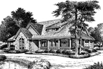 Mountain Home Plan Front Image of House - Summerset Country Home 007D-0055 | House Plans and More