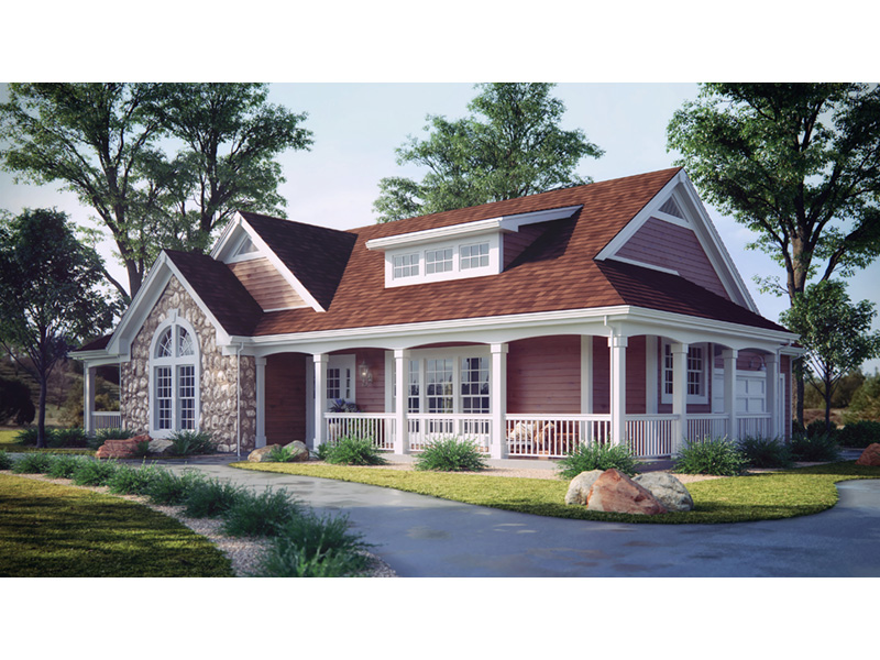 Mountain Home Plan Front Photo 01 - Summerset Country Home 007D-0055 | House Plans and More