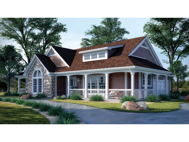 Mountain Home Plan Front Photo 02 - Summerset Country Home 007D-0055 | House Plans and More