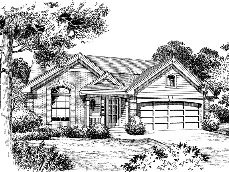 Country House Plan Front Image of House - Ashmont Woods Ranch Home 007D-0060 | House Plans and More
