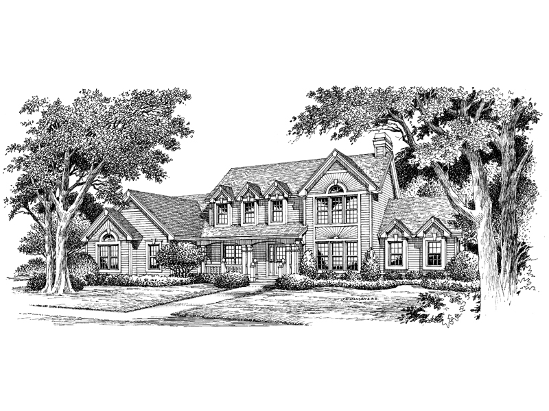 Country House Plan Front Image of House - Summerridge Cape Cod Home 007D-0072 | House Plans and More