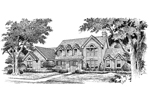 Traditional House Plan Front Image of House - Summerridge Cape Cod Home 007D-0072 | House Plans and More