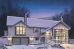 Contemporary House Plan Front Image - Kriegeridge Split-Level Home 007D-0083 | House Plans and More