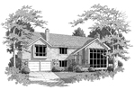 Contemporary House Plan Front Image of House - Kriegeridge Split-Level Home 007D-0083 | House Plans and More