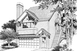 Modern House Plan Front Image of House - Siminridge Sloping Lot Home 007D-0087 | House Plans and More