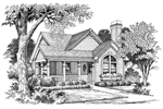 Cabin & Cottage House Plan Front Image of House - Springdale Country Cabin Home 007D-0105 | House Plans and More