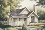 Cabin & Cottage House Plan Front Photo 01 - Springdale Country Cabin Home 007D-0105 | House Plans and More