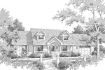 Cape Cod & New England House Plan Front Image of House - Briarview Arts And Crafts Home 007D-0126 | House Plans and More