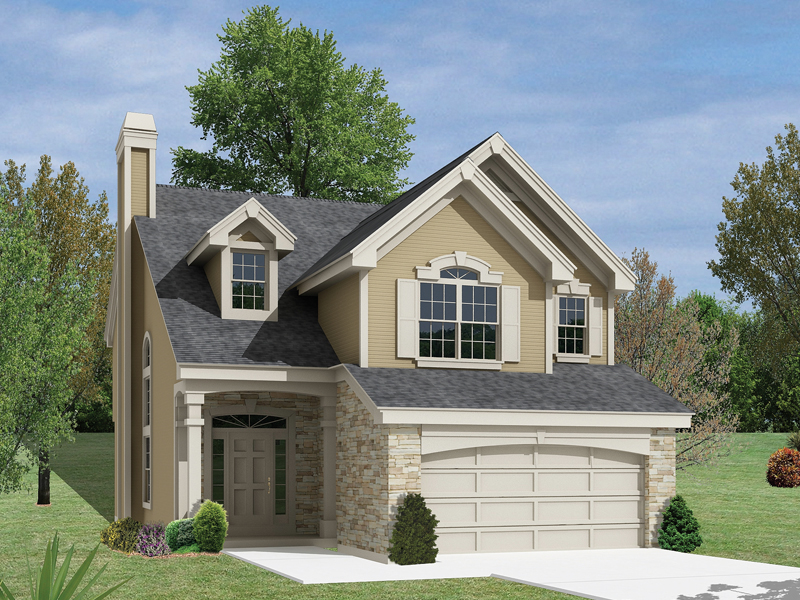 Northhampton Narrow Lot Home Plan 007D-0127 | House Plans and More
