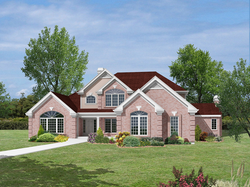 Greek Revival House Plan Front Image - Monaco Bay Traditional Home 007D-0132 | House Plans and More
