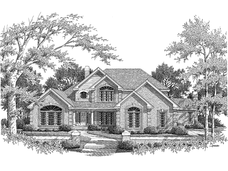 Greek Revival House Plan Front Image of House - Monaco Bay Traditional Home 007D-0132 | House Plans and More