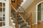 Greek Revival House Plan Stairs Photo - Monaco Bay Traditional Home 007D-0132 | House Plans and More