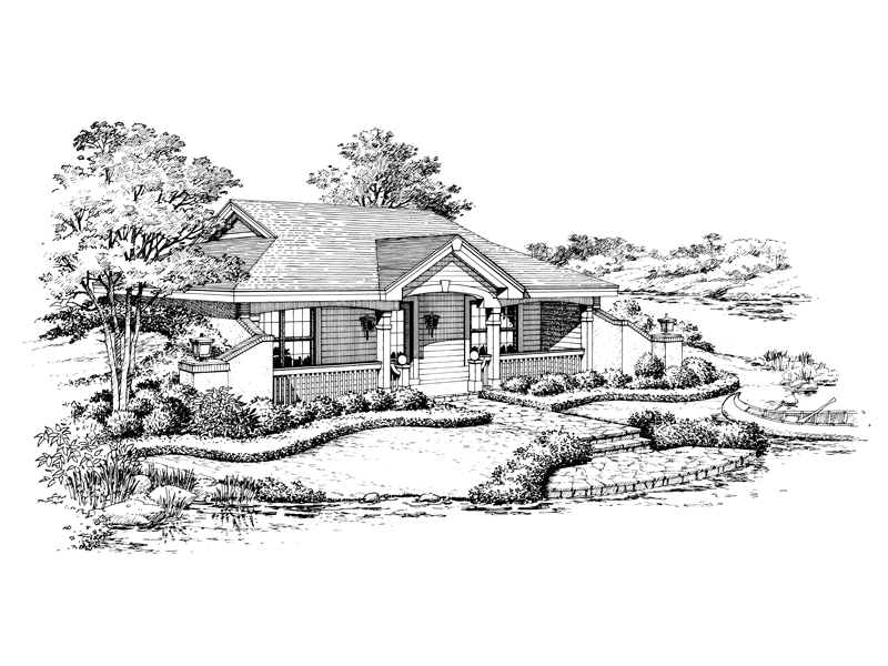 Country House Plan Front Image of House - Woodhaven Vacation Home 007D-0156 | House Plans and More