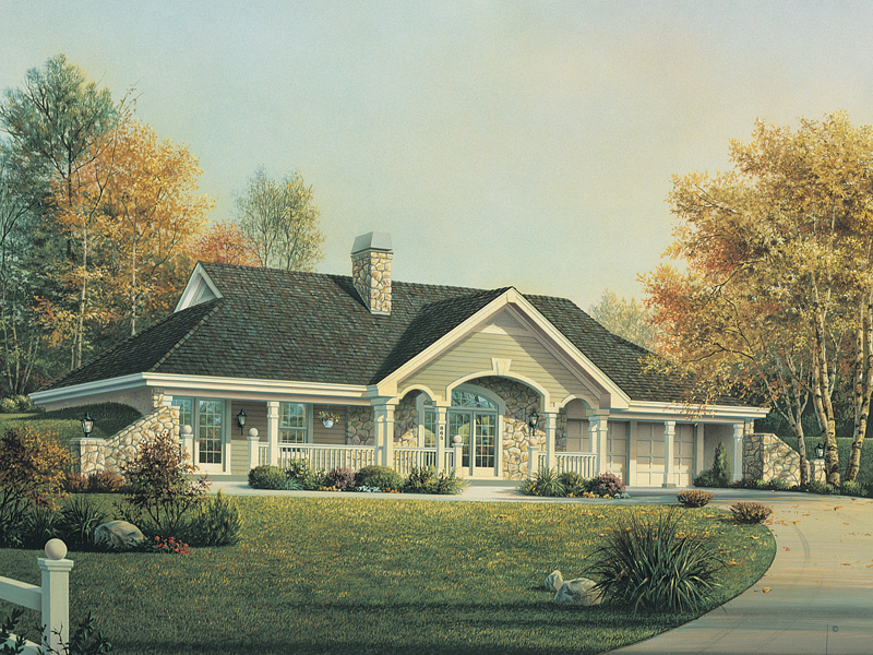 Traditional House Plan Front Image - Stonehaven Berm Home 007D-0161   House Plans and More