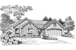 Country House Plan Front Image of House - La Demeure Country French Home 007D-0162 | House Plans and More