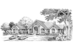 Traditional House Plan Front Image of House - Avondale Cliff Atrium Home 007D-0165 | House Plans and More