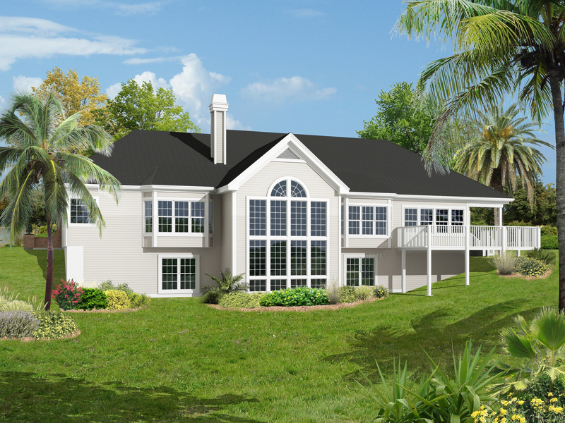 Traditional House Plan Color Image of House - Carmel Place Atrium Ranch Home 007D-0187 | House Plans and More