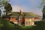 Country House Plan Color Image of House - Greensaver Atrium Berm Home 007D-0206 | House Plans and More
