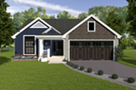 Craftsman House Plan Front of Home - Conner Hill 007D-5060 | House Plans and More