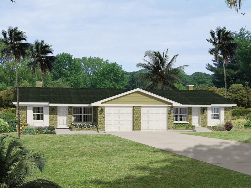 Jefferson Country Ranch Duplex Plan 008D-0114 | House Plans ... on