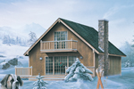 Mountain Home Plan Front Image - Breezewood Rustic Home 008D-0134 | House Plans and More