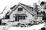 Mountain Home Plan Front Image of House - Breezewood Rustic Home 008D-0134 | House Plans and More