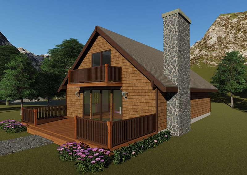 Mountain Home Plan Front Photo 01 - Breezewood Rustic Home 008D-0134 | House Plans and More