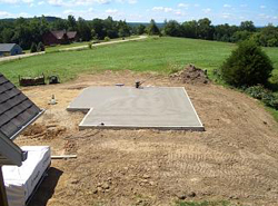 photo of recently constructed slab foundation