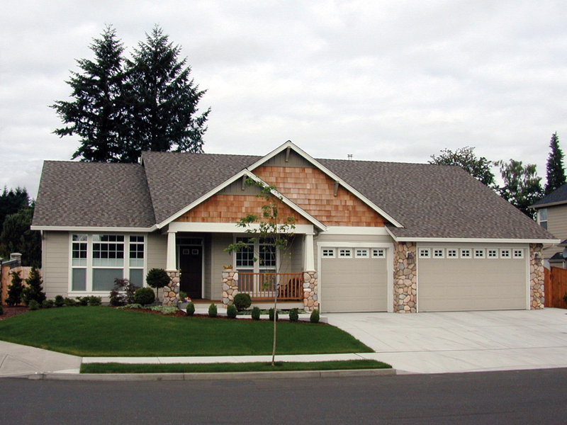 Forestland Craftsman Ranch Home Plan 011d 0004 House Plans
