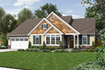 Country House Plan Front Image - Springfall Craftsman Ranch Home 011D-0013 | House Plans and More