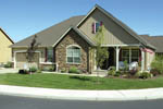 Country House Plan Front Photo 01 - Springfall Craftsman Ranch Home 011D-0013 | House Plans and More